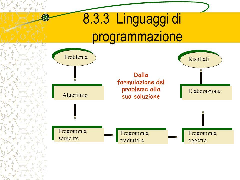 8.3.3 Linguaggi di programmazione