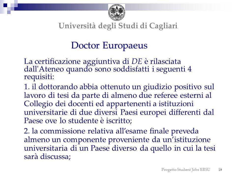 dottorato Doctor Europaeus dottorato