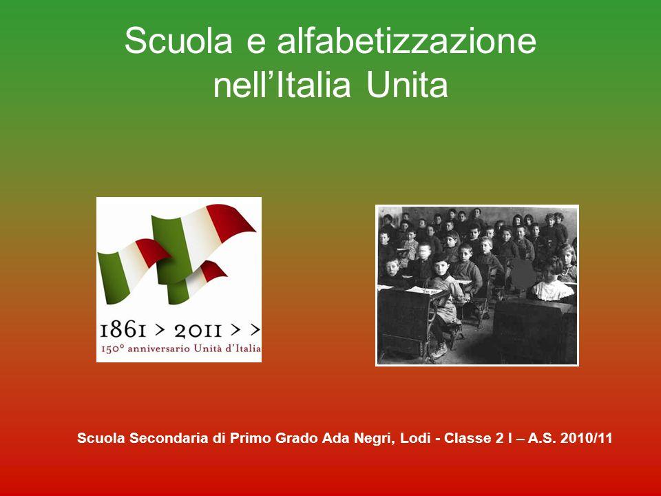 Scuola e alfabetizzazione nell'Italia Unita