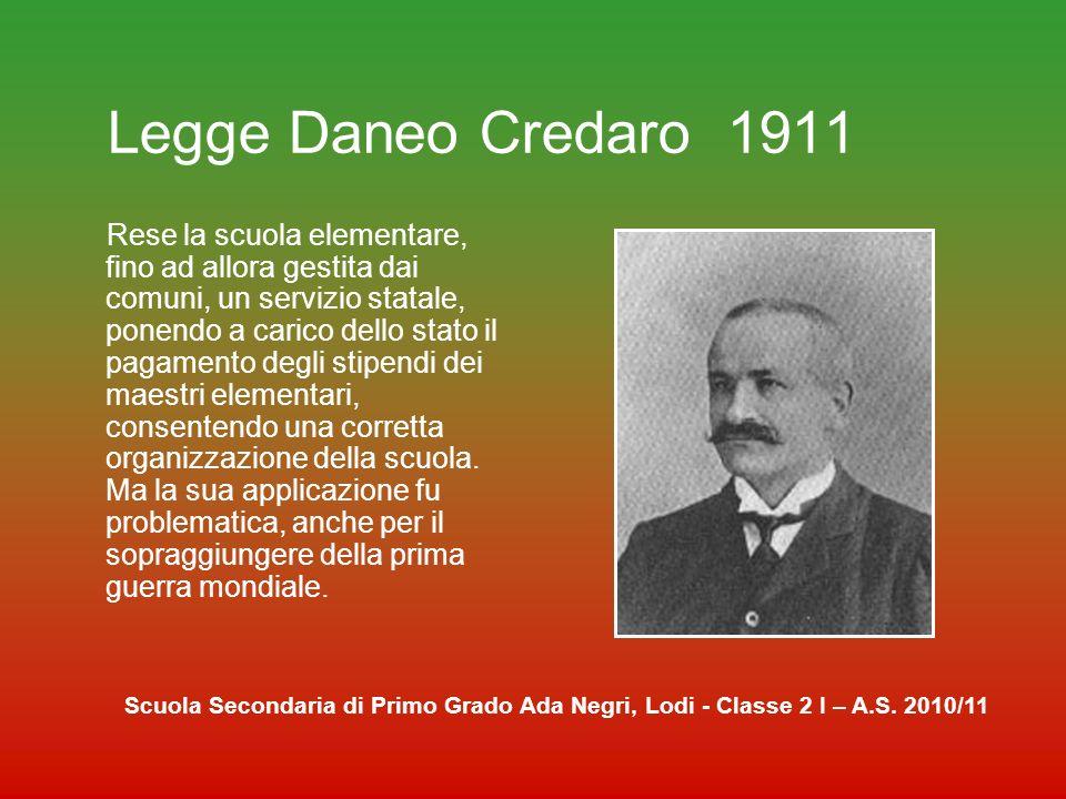 Legge Daneo Credaro 1911