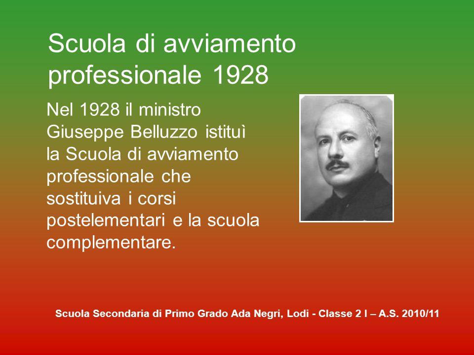 Scuola di avviamento professionale 1928