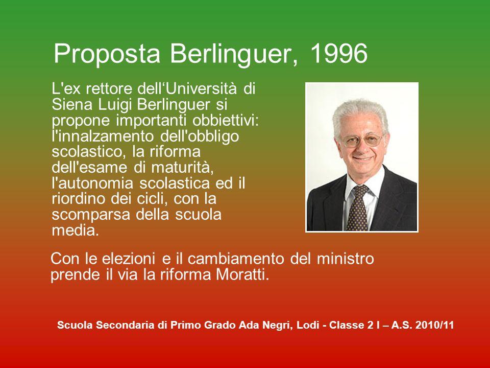 Proposta Berlinguer, 1996
