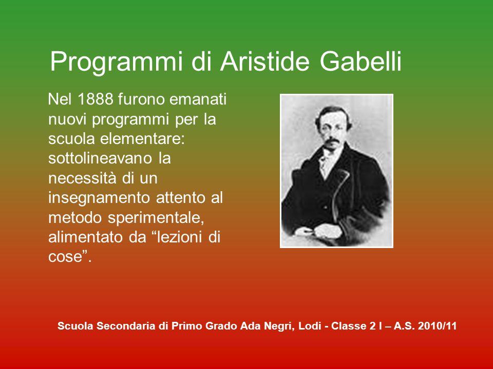 Programmi di Aristide Gabelli