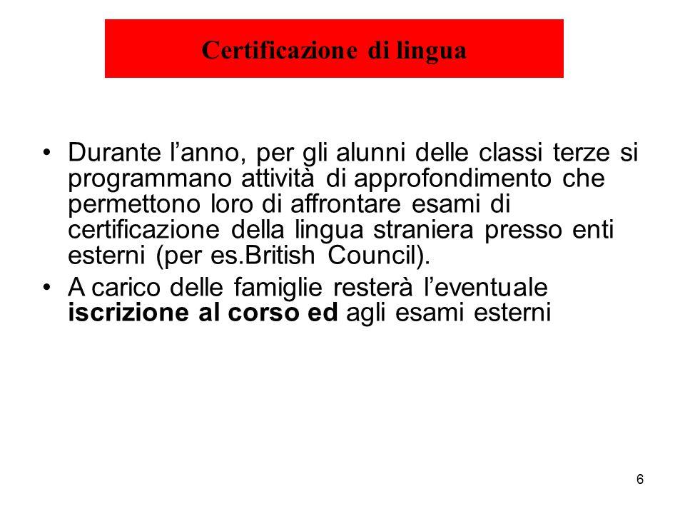 Certificazione di lingua
