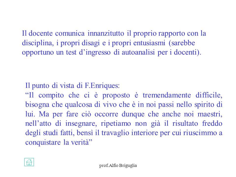 Il punto di vista di F.Enriques: