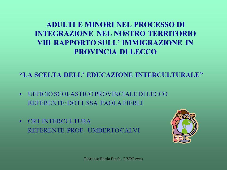 Dott.ssa Paola Fierli . USP Lecco