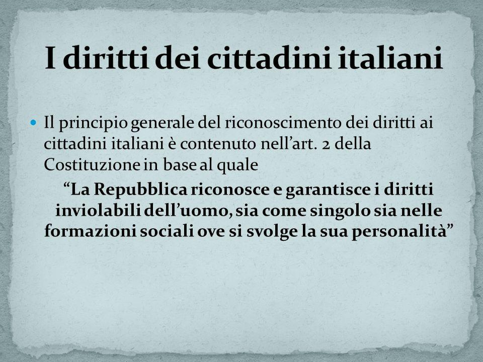I diritti dei cittadini italiani