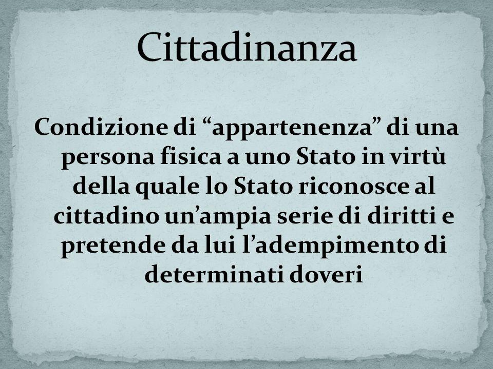 Cittadinanza