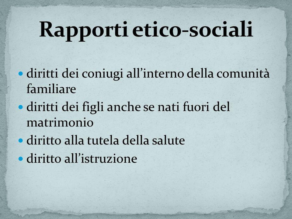 Rapporti etico-sociali