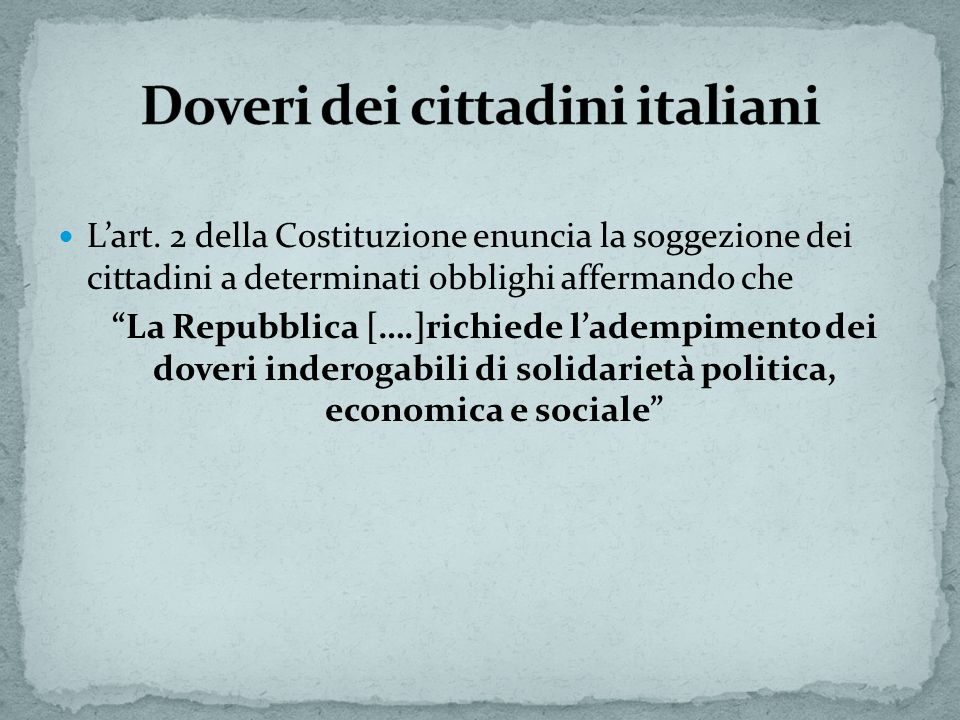 Doveri dei cittadini italiani