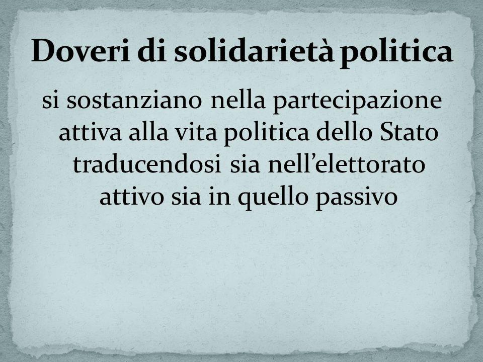 Doveri di solidarietà politica