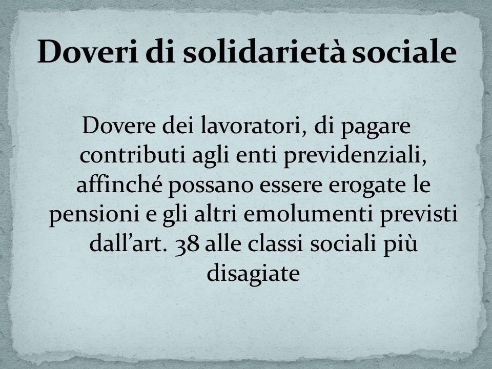 Doveri di solidarietà sociale