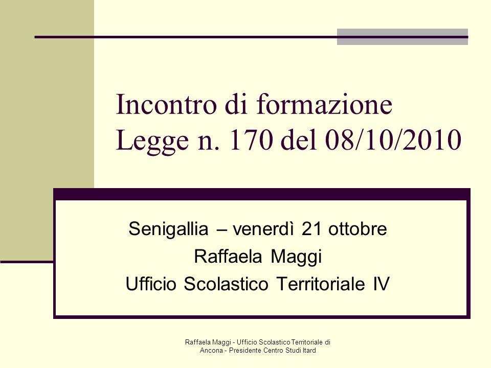 Incontro di formazione Legge n. 170 del 08/10/2010