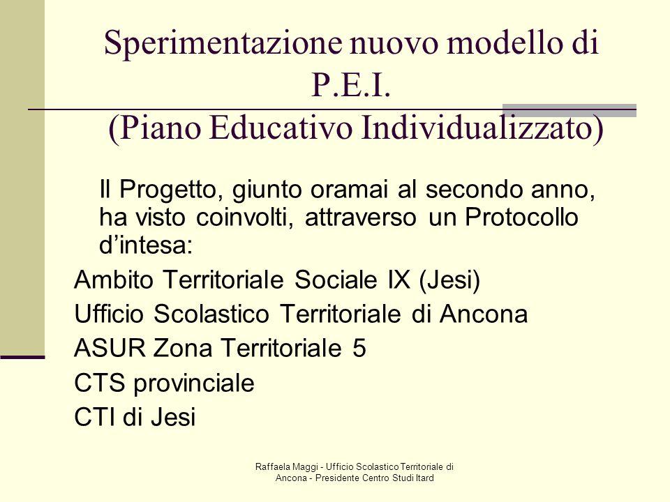 Sperimentazione nuovo modello di P. E. I