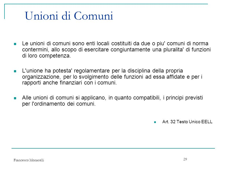 Unioni di Comuni