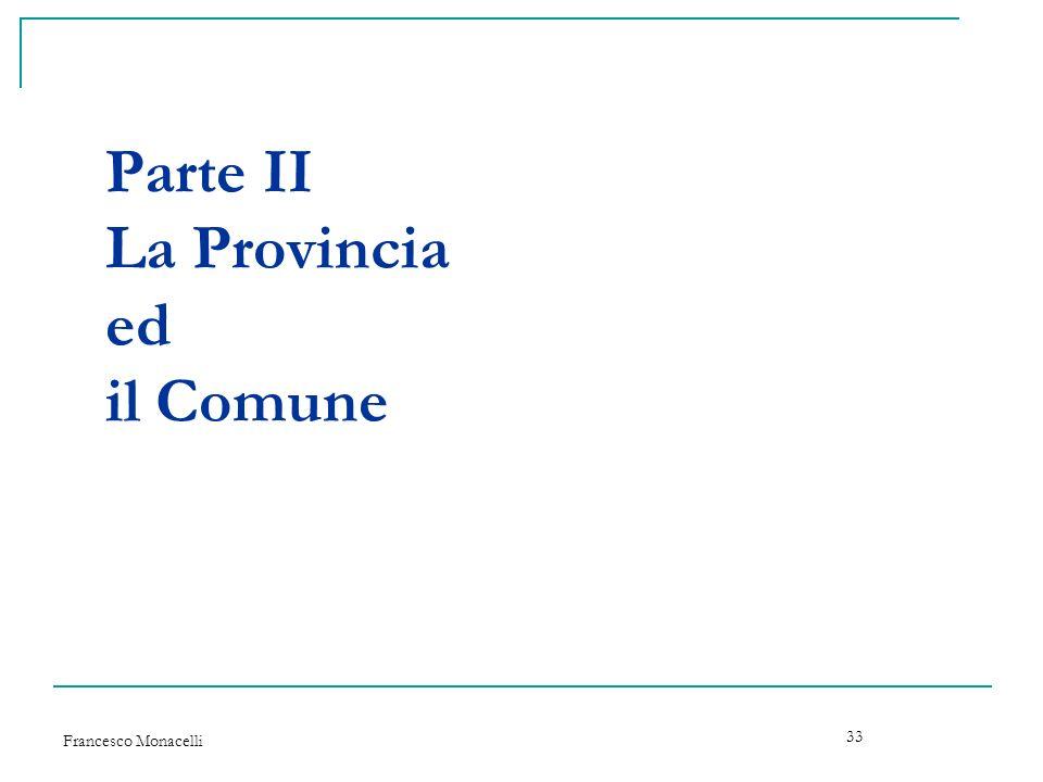 Parte II La Provincia ed il Comune