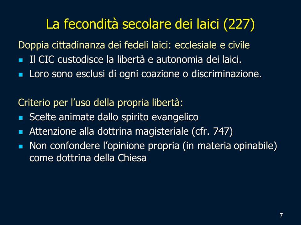 La fecondità secolare dei laici (227)