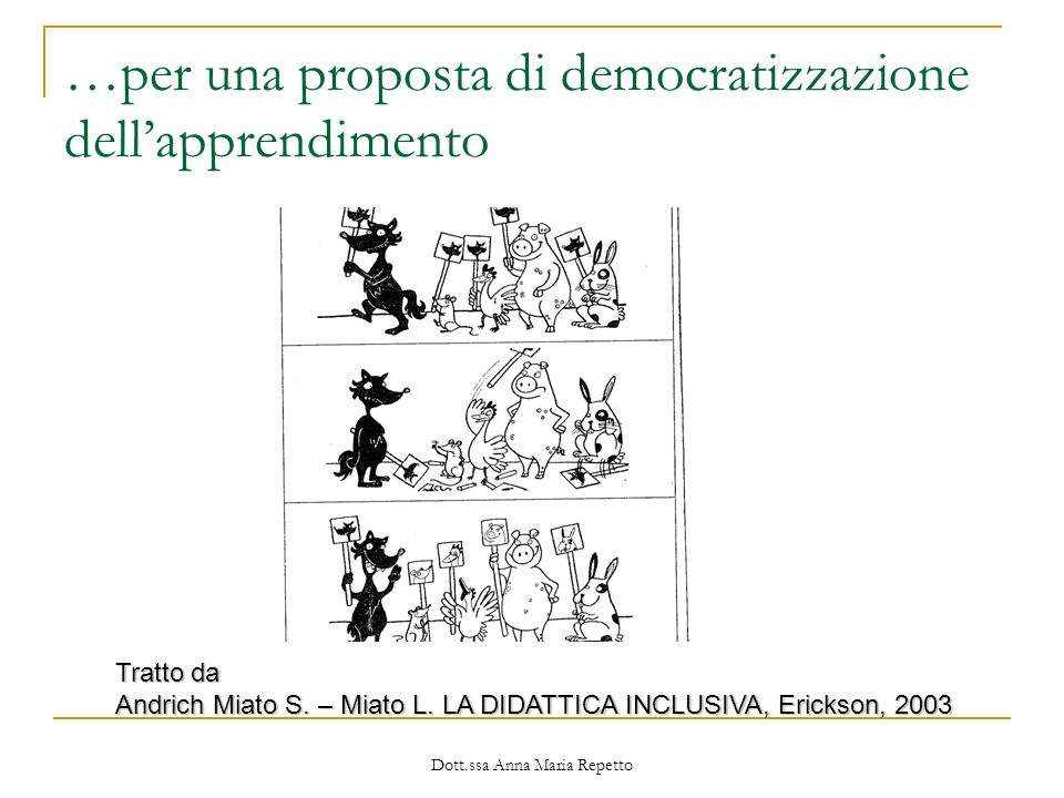 …per una proposta di democratizzazione dell'apprendimento