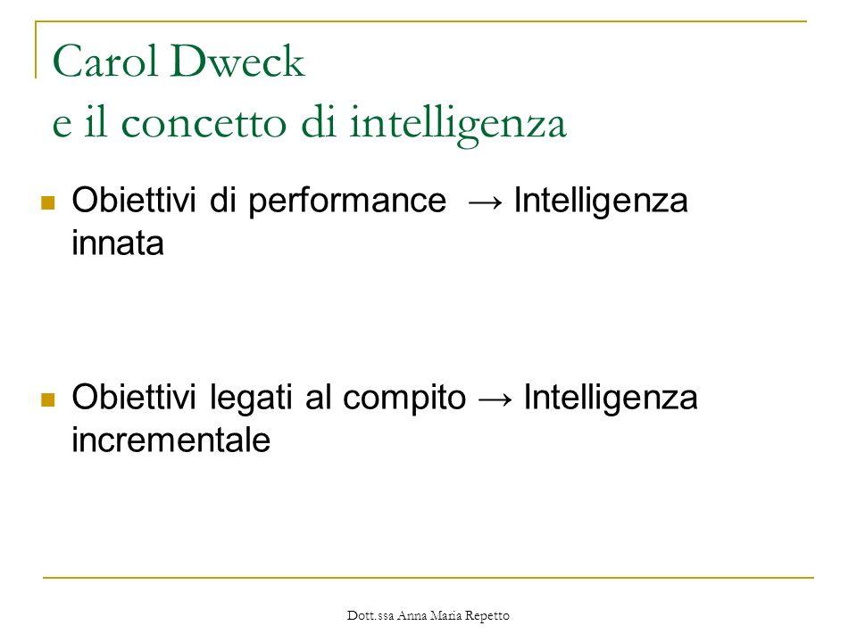 Carol Dweck e il concetto di intelligenza