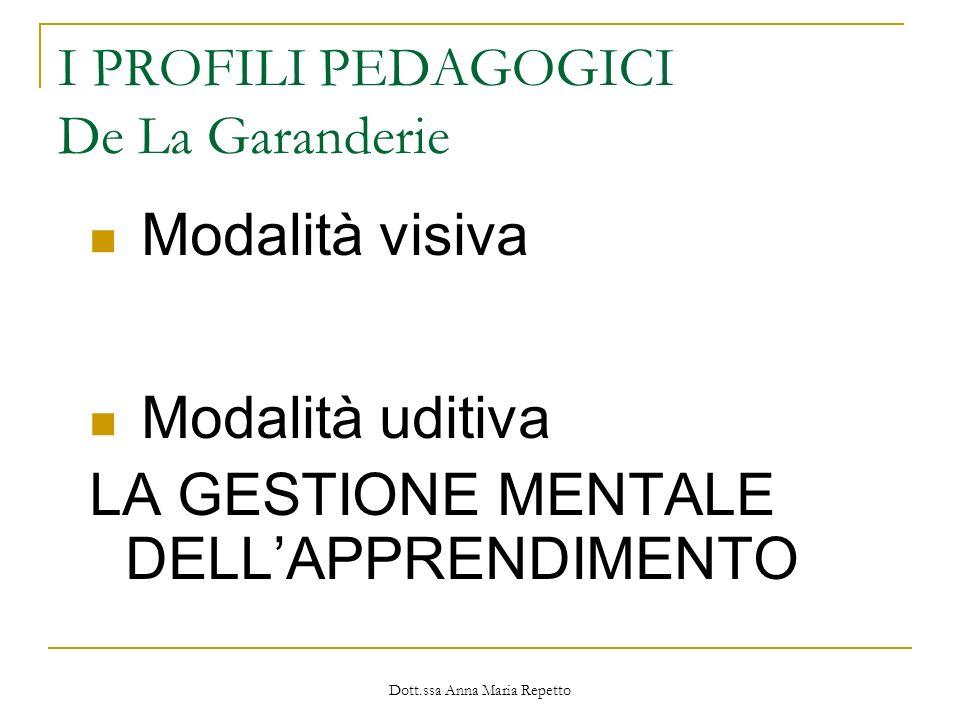 I PROFILI PEDAGOGICI De La Garanderie