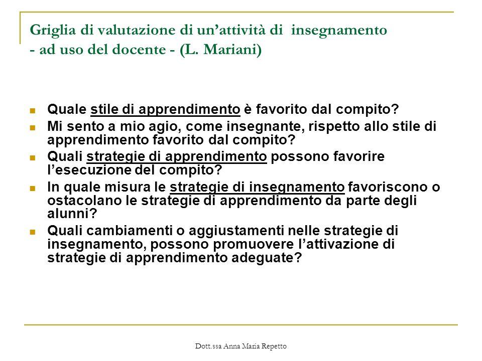 Dott.ssa Anna Maria Repetto