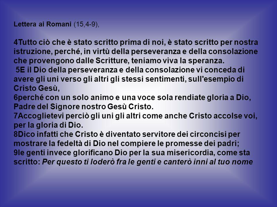 Lettera ai Romani (15,4-9),