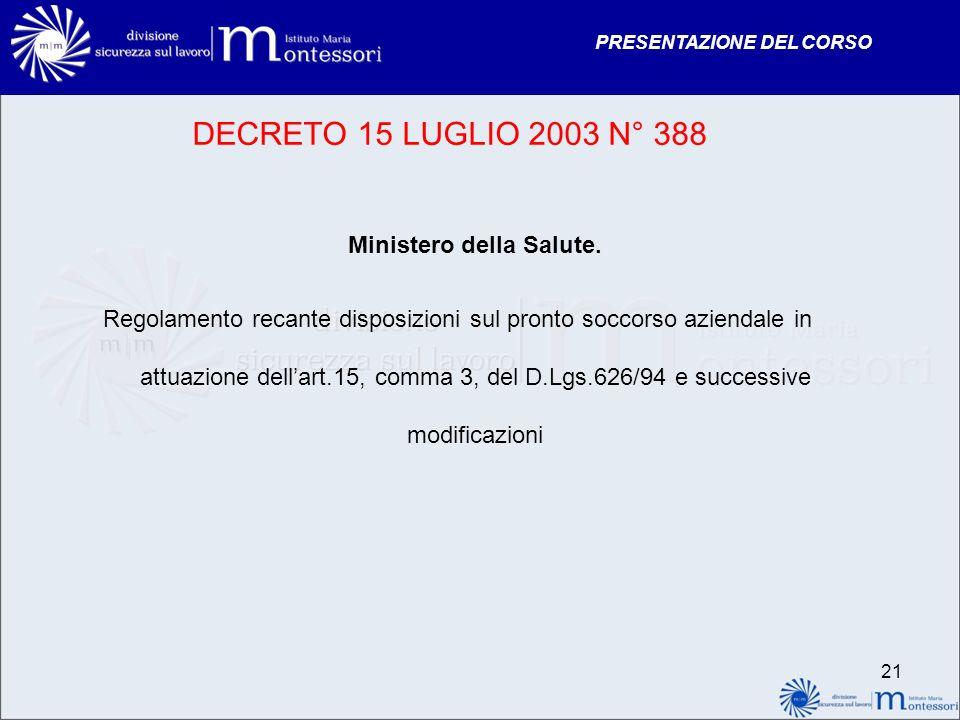 Ministero della Salute.
