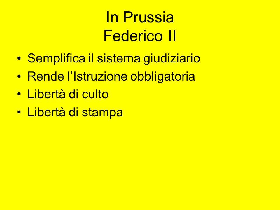 In Prussia Federico II Semplifica il sistema giudiziario