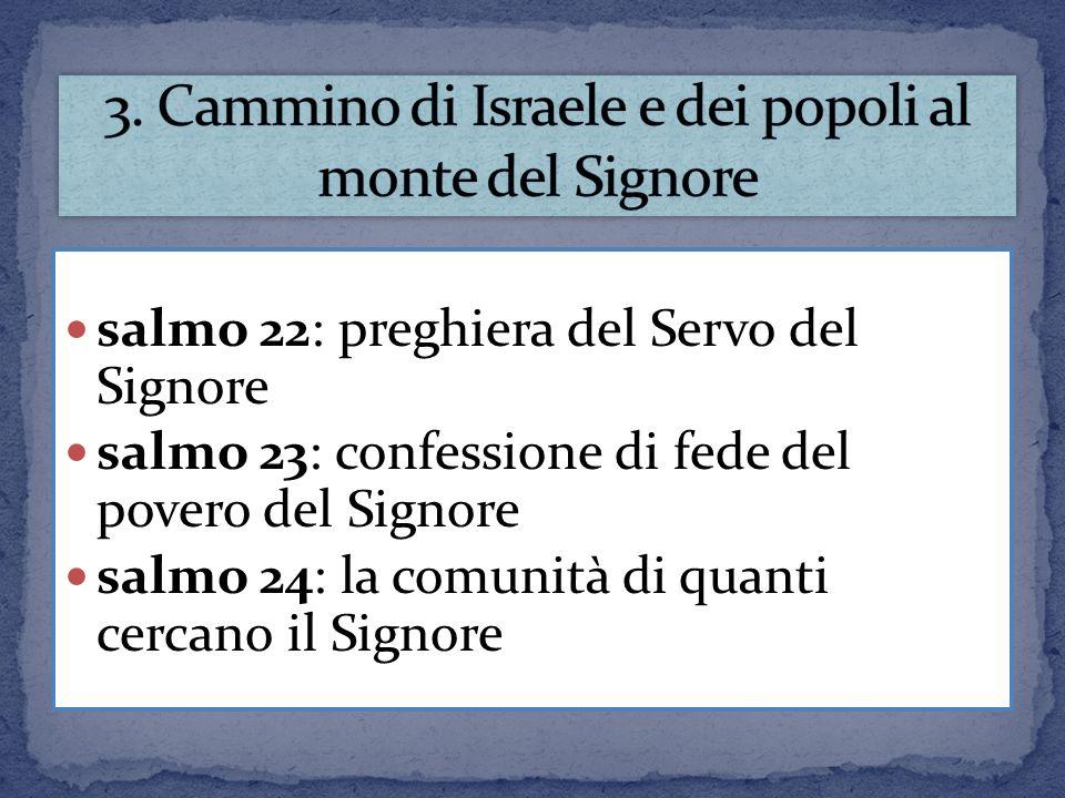 3. Cammino di Israele e dei popoli al monte del Signore