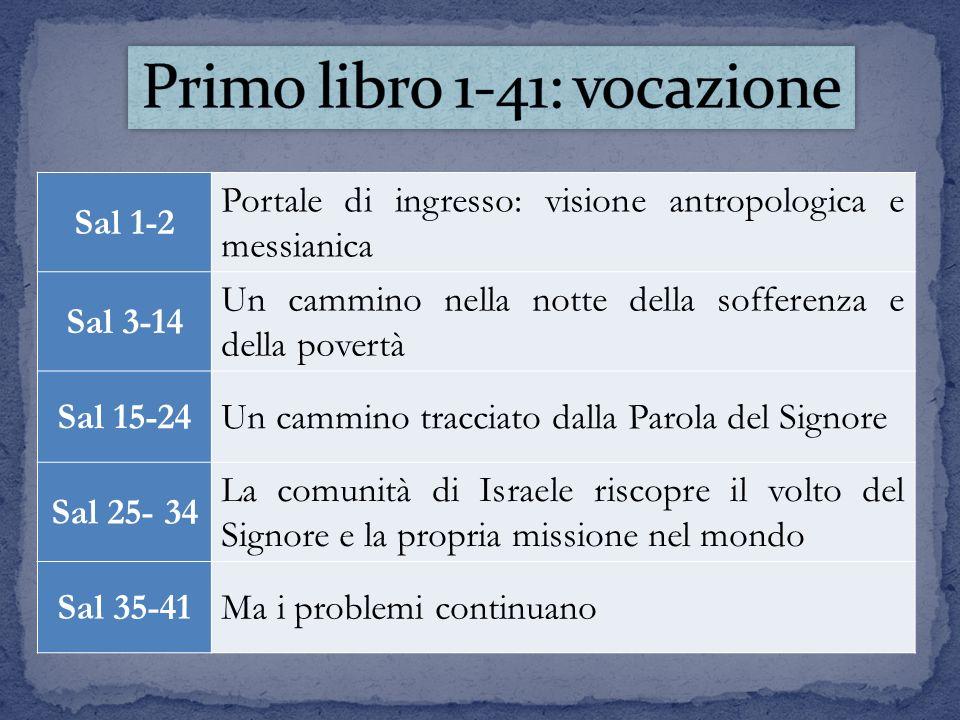 Primo libro 1-41: vocazione