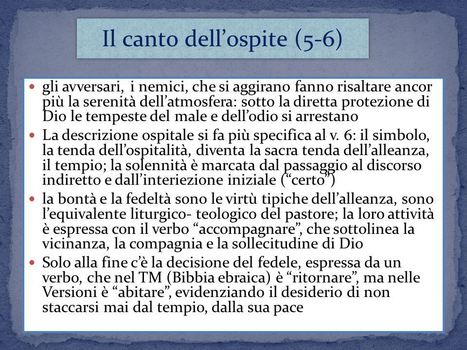 Il canto dell'ospite (5-6)