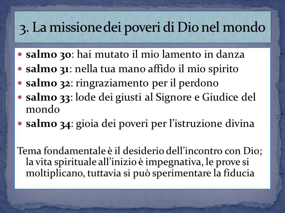3. La missione dei poveri di Dio nel mondo