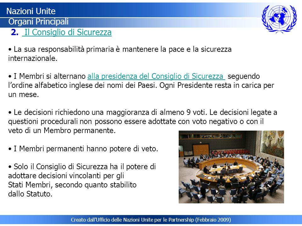 Nazioni Unite Organi Principali Il Consiglio di Sicurezza