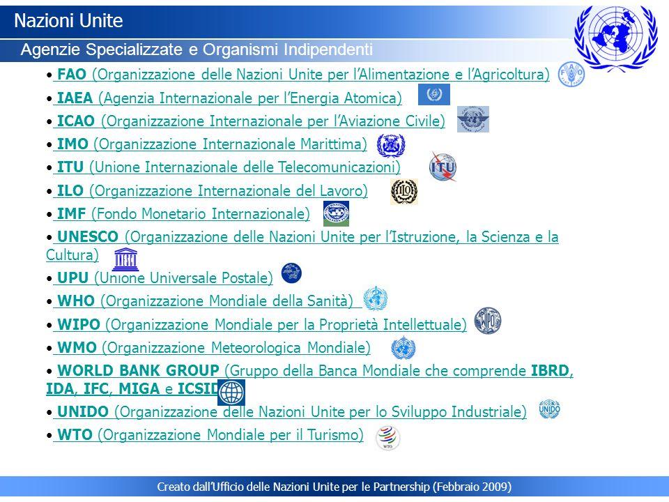 Nazioni Unite Agenzie Specializzate e Organismi Indipendenti