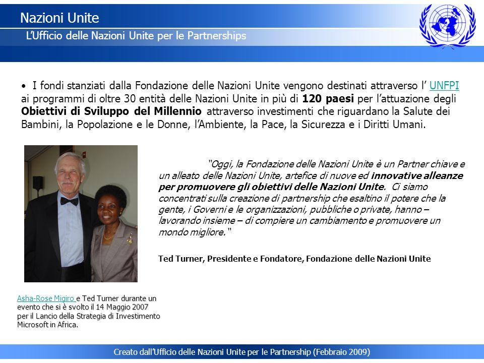 Nazioni Unite L'Ufficio delle Nazioni Unite per le Partnerships