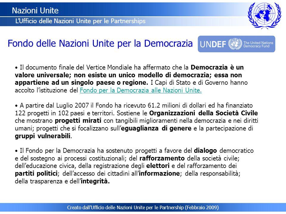 Fondo delle Nazioni Unite per la Democrazia