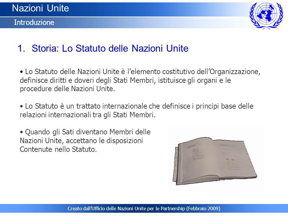Storia: Lo Statuto delle Nazioni Unite