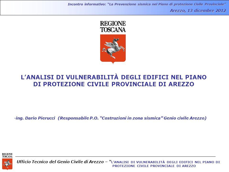 Incontro informativo: La Prevenzione sismica nel Piano di protezione Civile Provinciale
