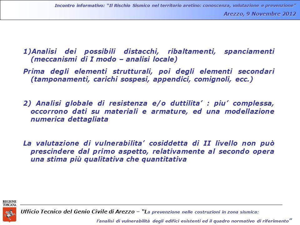 Incontro informativo: Il Rischio Sismico nel territorio aretino: conoscenza, valutazione e prevenzione