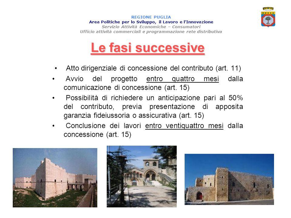 Atto dirigenziale di concessione del contributo (art. 11)