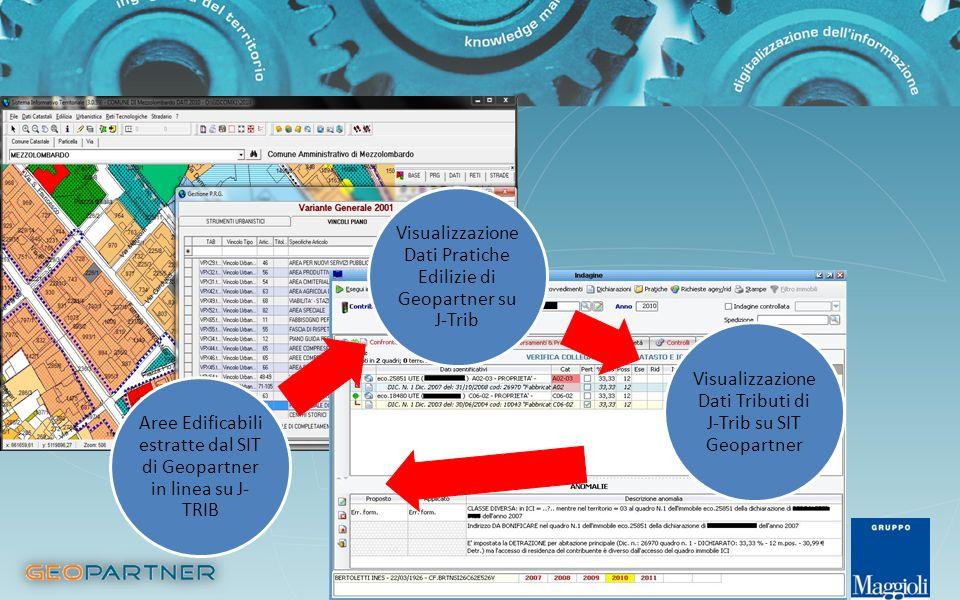 Visualizzazione Dati Pratiche Edilizie di Geopartner su J-Trib