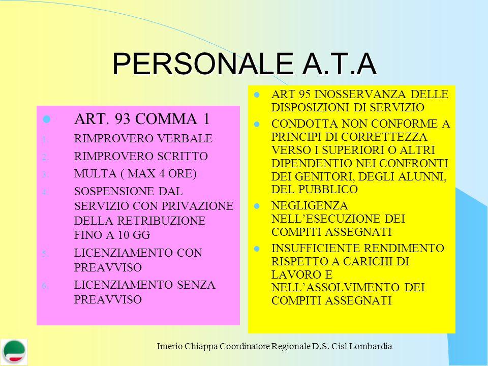 Imerio Chiappa Coordinatore Regionale D.S. Cisl Lombardia