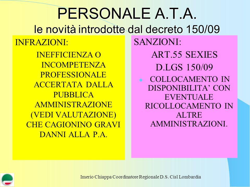 PERSONALE A.T.A. le novità introdotte dal decreto 150/09