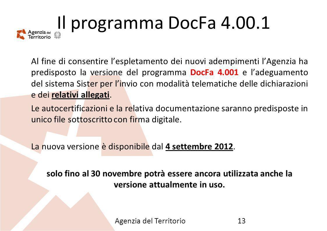 26/09/12 Il programma DocFa 4.00.1.