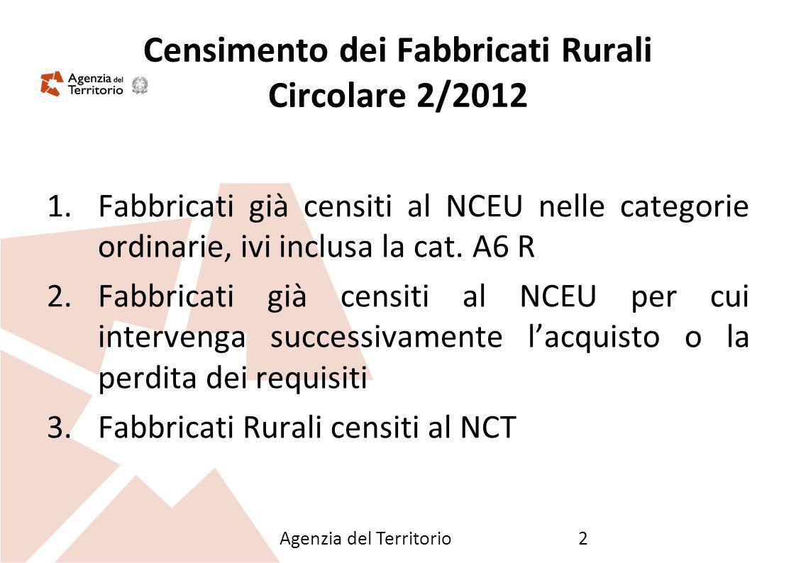 Censimento dei Fabbricati Rurali Circolare 2/2012