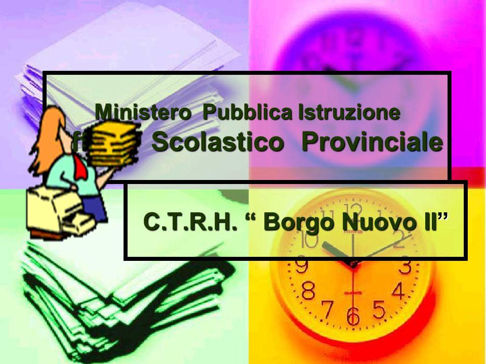 Ministero Pubblica Istruzione Ufficio Scolastico Provinciale