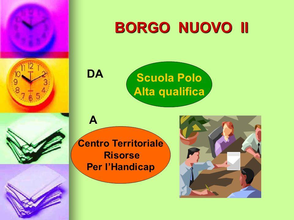BORGO NUOVO II DA Scuola Polo Alta qualifica A Centro Territoriale
