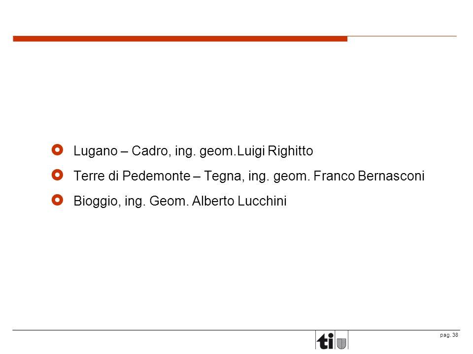 Lugano – Cadro, ing. geom.Luigi Righitto