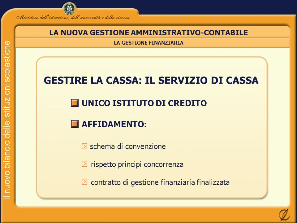 GESTIRE LA CASSA: IL SERVIZIO DI CASSA