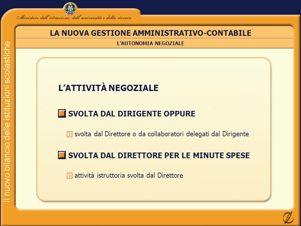 LA NUOVA GESTIONE AMMINISTRATIVO-CONTABILE L'AUTONOMIA NEGOZIALE